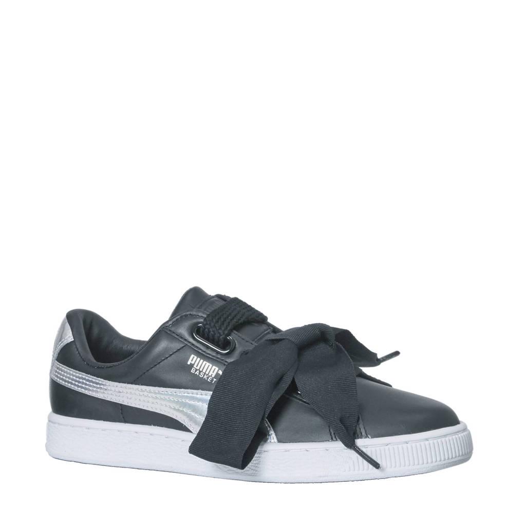 0f496d421ca Puma Basket Heart Explosive sneakers, Zwart/zilver/wit