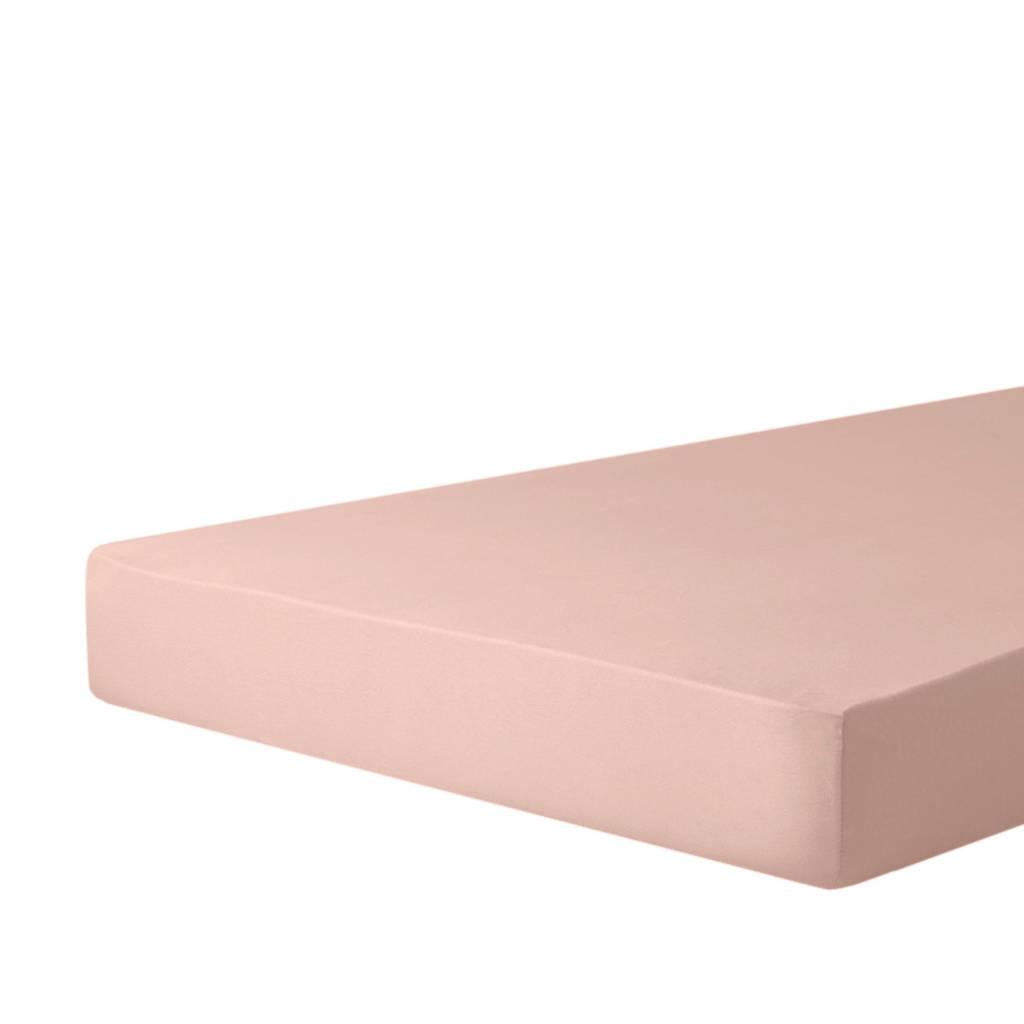 wehkamp home jersey hoeslaken sepia roze
