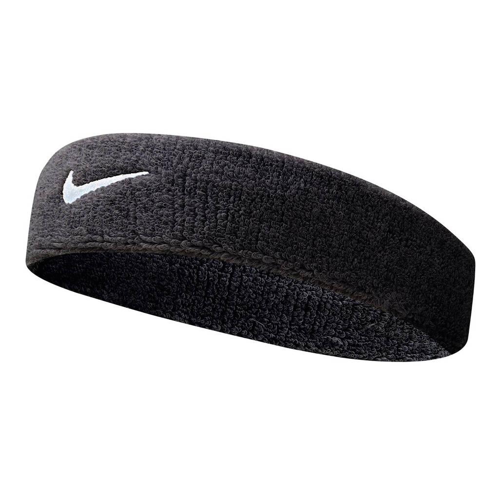 Nike   hoofdband Swoosh zwart/wit, Zwart/wit