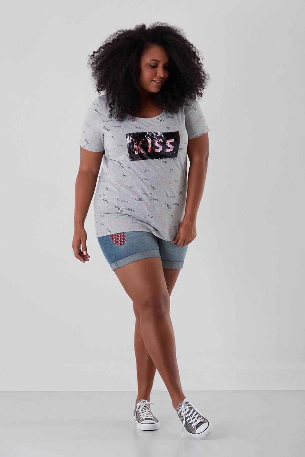 MS Mode T-shirt, Lichtgrijs