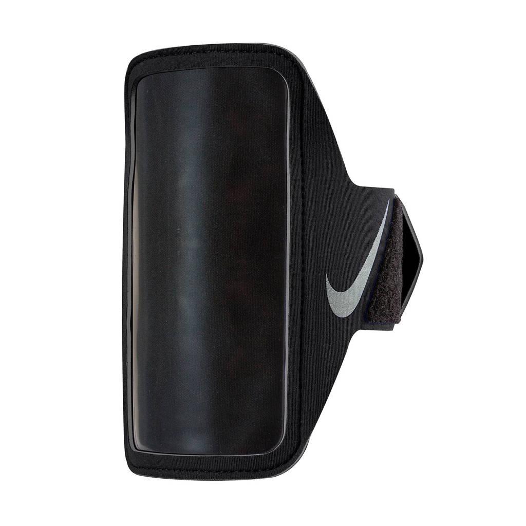 Nike sportarmband zwart, Zwart/zilver