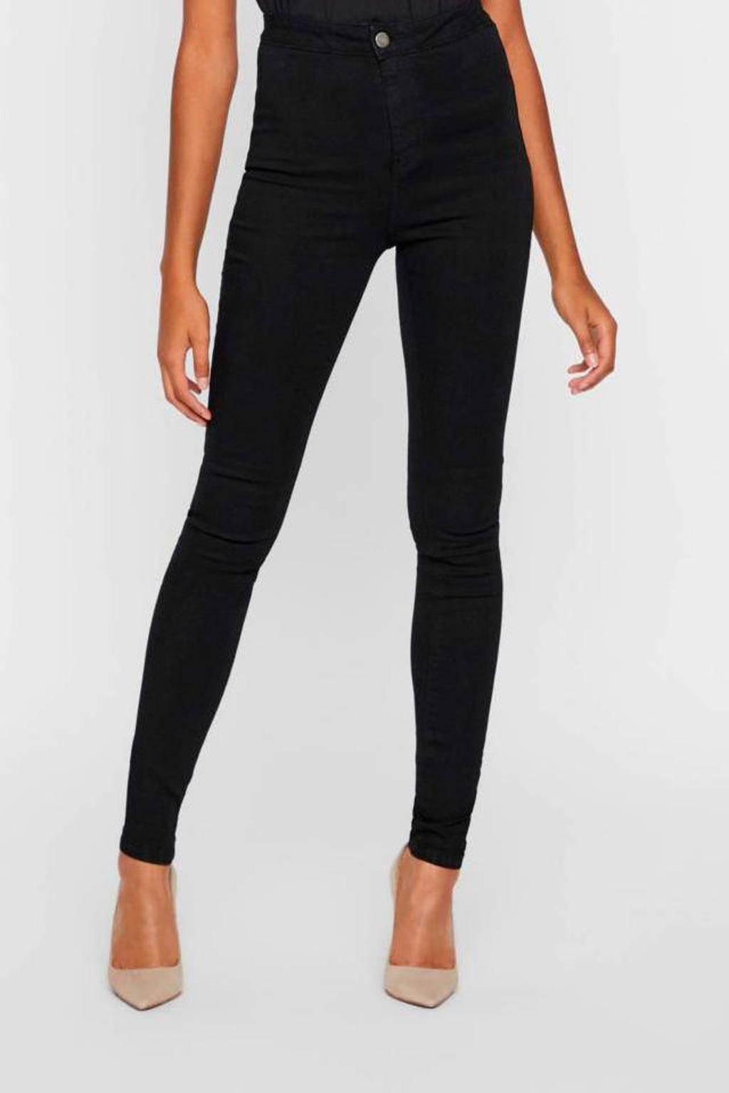NOISY MAY super high waist jeans, Zwart