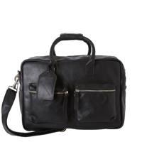 Cowboysbag  15.6 The College Bag leren tas, 100 - Black