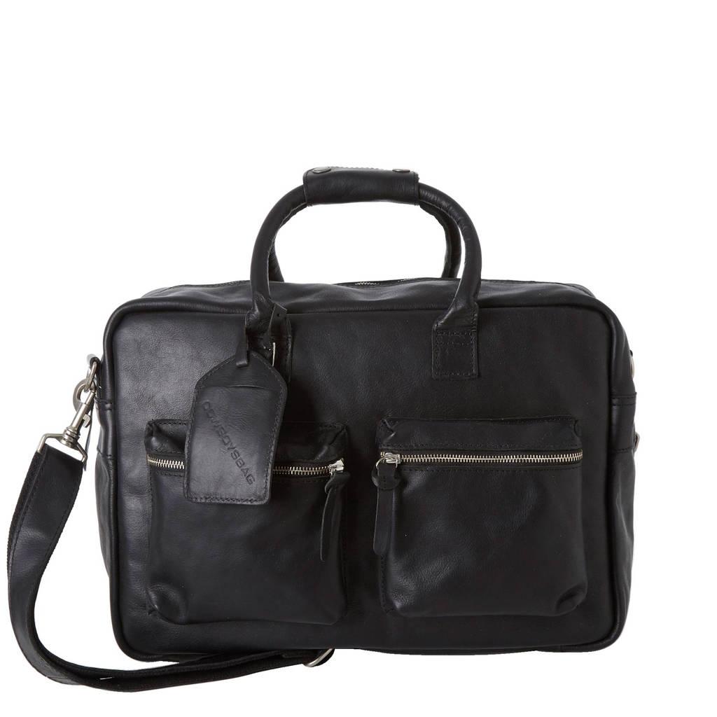 Cowboysbag  leren tas The College Bag 15,6 inch, 100 - Black