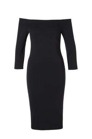 Tansy off shoulder jurk zwart