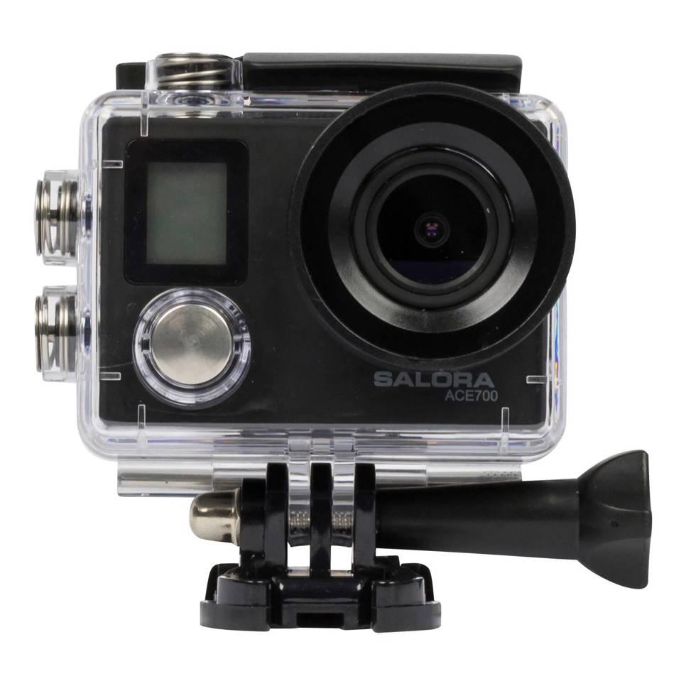 Salora ACE700 4K action cam, Zwart