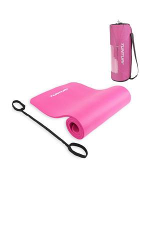 NBR Fitnessmat - Oefenmat met Draagtas - Roze