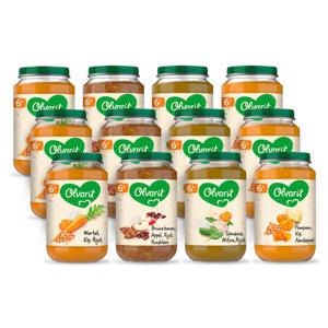 Variatiemenu Maaltijd - babyhapje voor baby's vanaf 6+ maanden - 4 verschillende smaken babyvoeding - 12 maaltijdpotjes van 200 gram