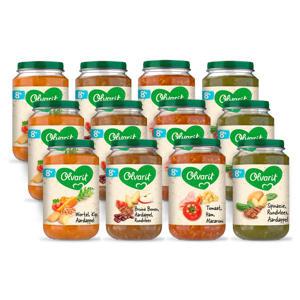 Variatiemenu Maaltijd - babyhapje voor baby's vanaf 8+ maanden - 4 verschillende smaken babyvoeding - 12 maaltijdpotjes van 200 gram