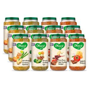 Variatiemenu Maaltijd - babyhapje voor baby's vanaf 15+ maanden - 4 verschillende smaken babyvoeding - 12 maaltijdpotjes van 250 gram