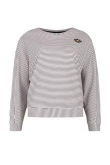 gestreepte sweater met borduursel