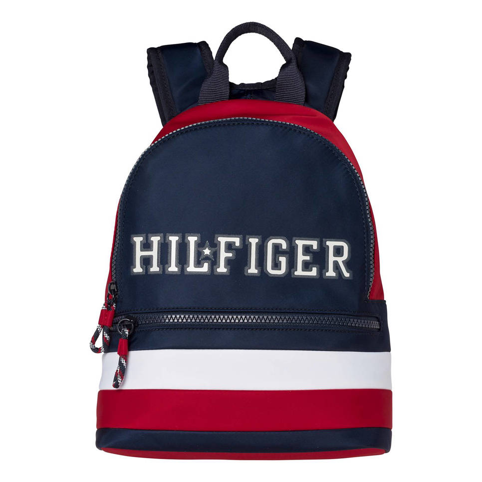 Tommy Hilfiger rugzak TOMMY COLOR BLOCK SMALL, Donkerblauw/rood/wit