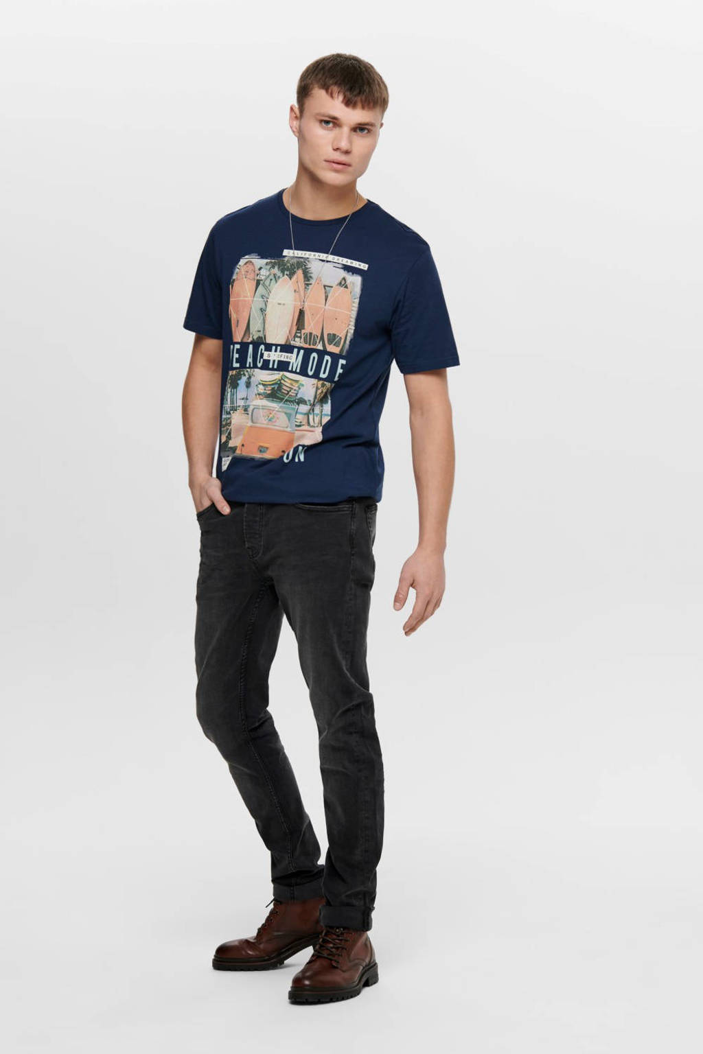 ONLY & SONS slim fit jeans Loom black denim 0447, Black Denim 0447