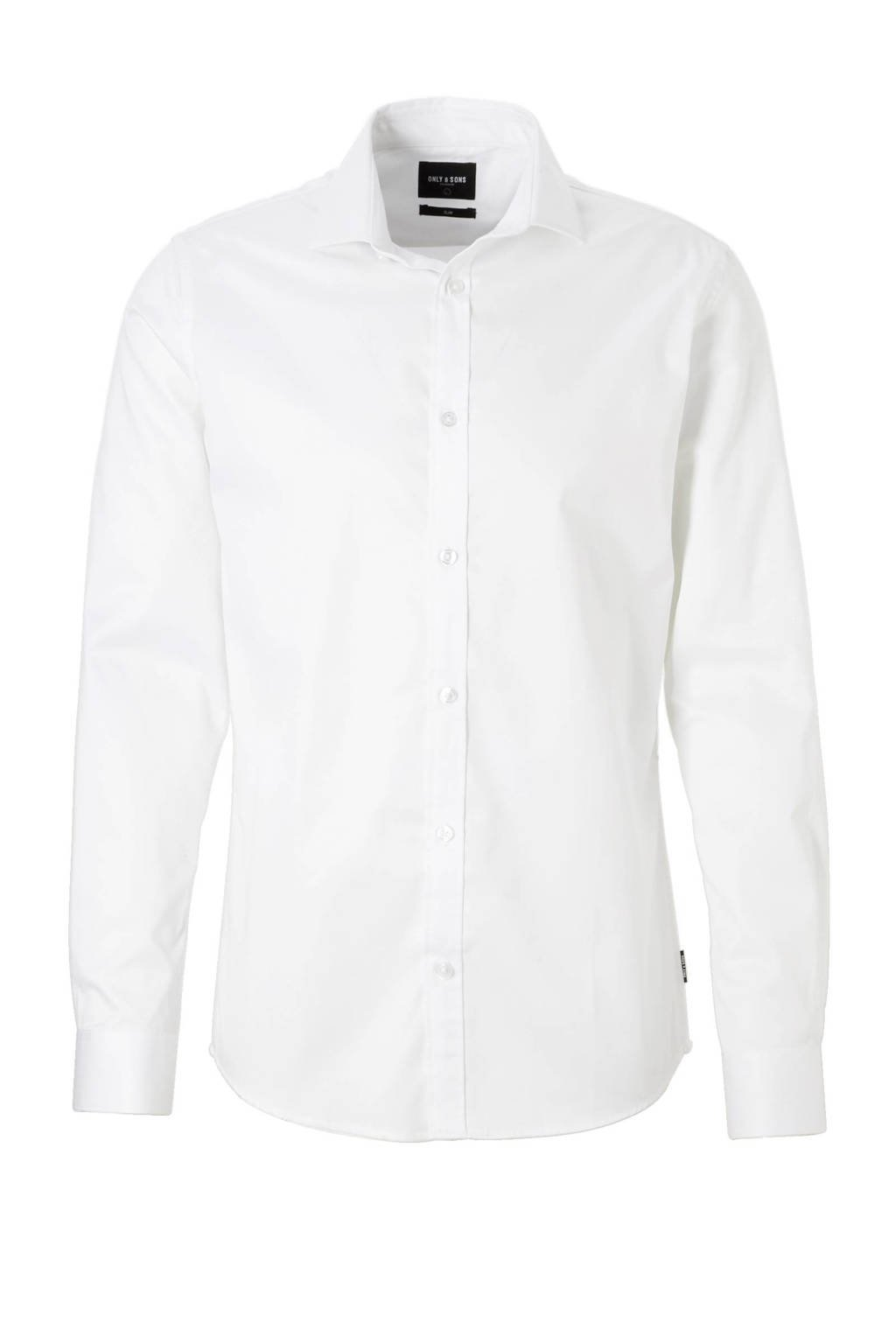 Only & Sons Alves slim fit overhemd, Wit