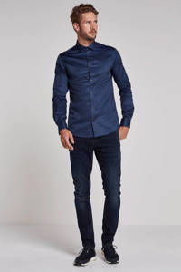ONLY & SONS Alves slim fit overhemd, Donkerblauw