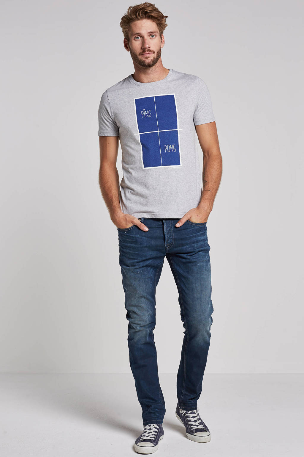 Only & Sons  slim Loom slim fit jeans, Blue Denim 0445