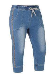 capri jeans met zijstrepen