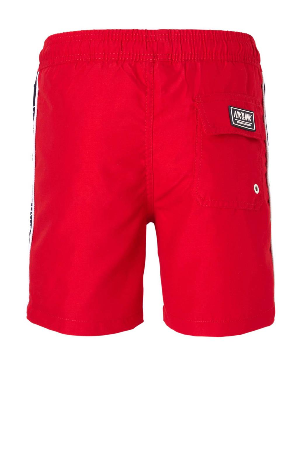 NIK&NIK zwemshort, Rood/wit/blauw