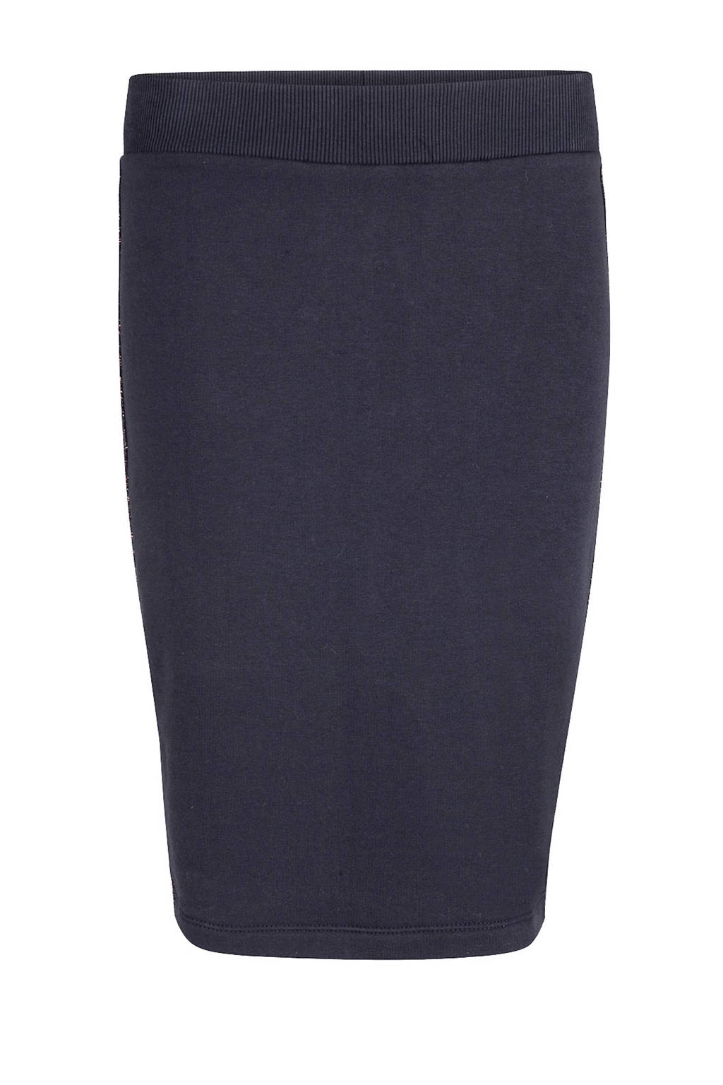 WE Fashion rok met contrasterende zij-streep, Donkerblauw