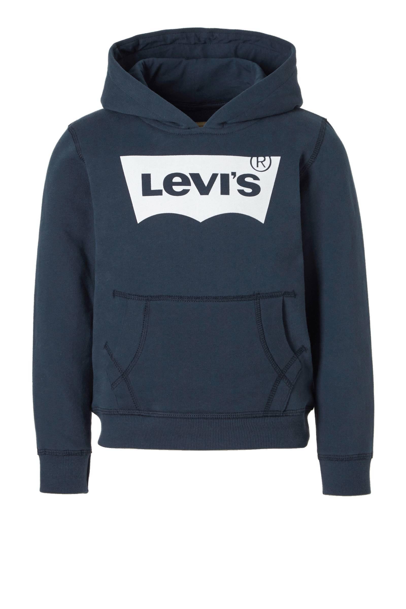 Levi's kids Levi's Kids hoodie met logoprint wit | wehkamp
