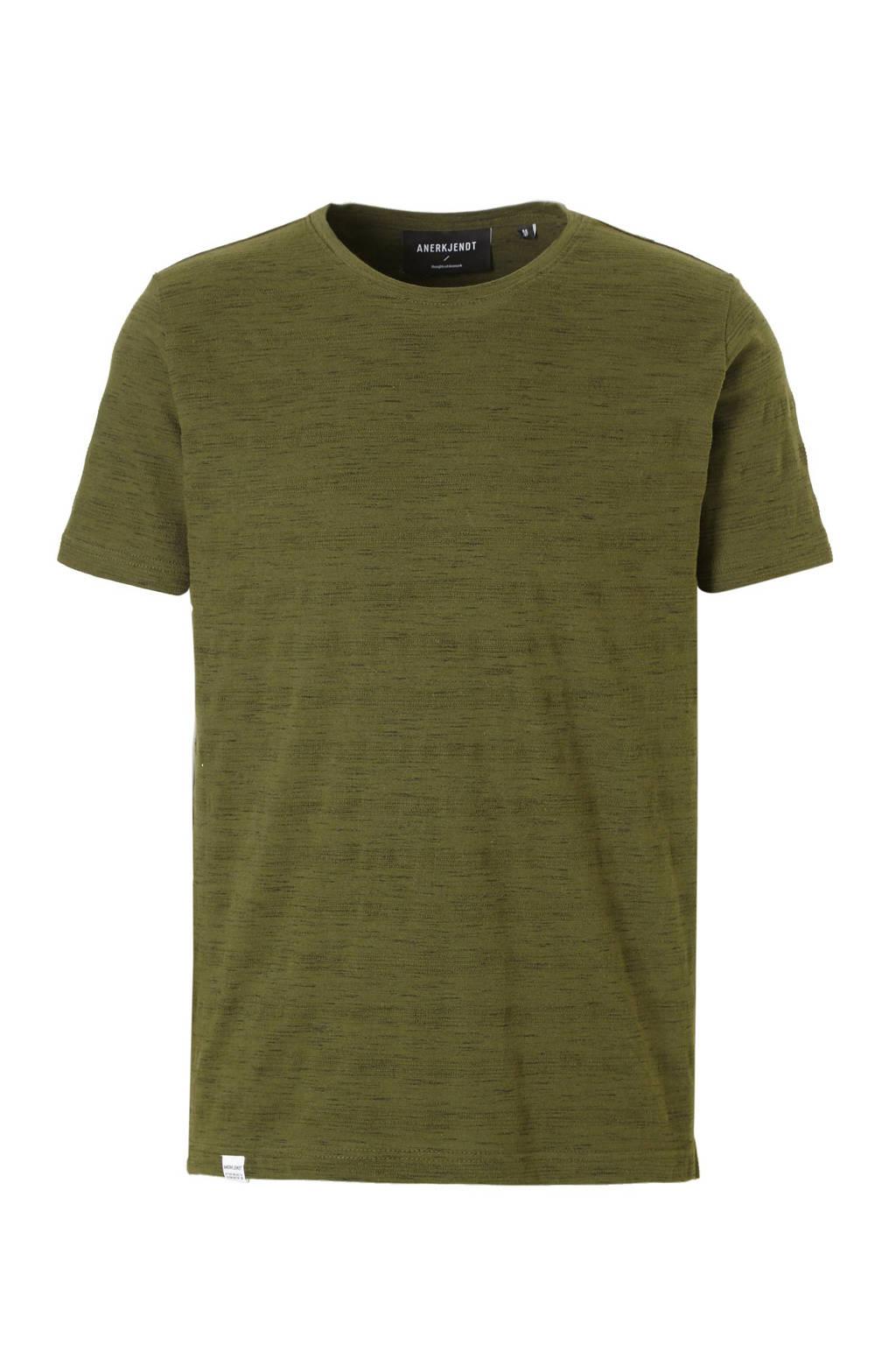 Anerkjendt T-shirt, Olijfgroen