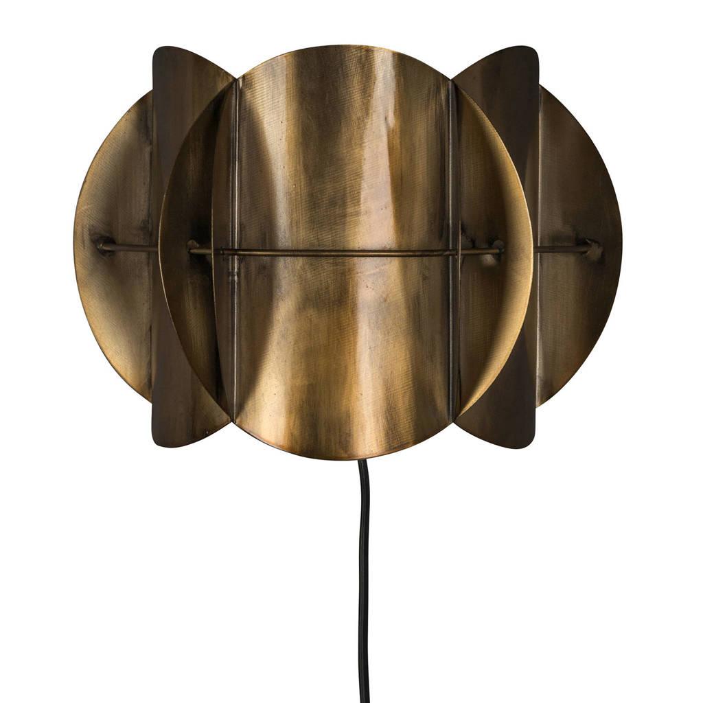 Dutchbone wandlamp Corridor, Goud