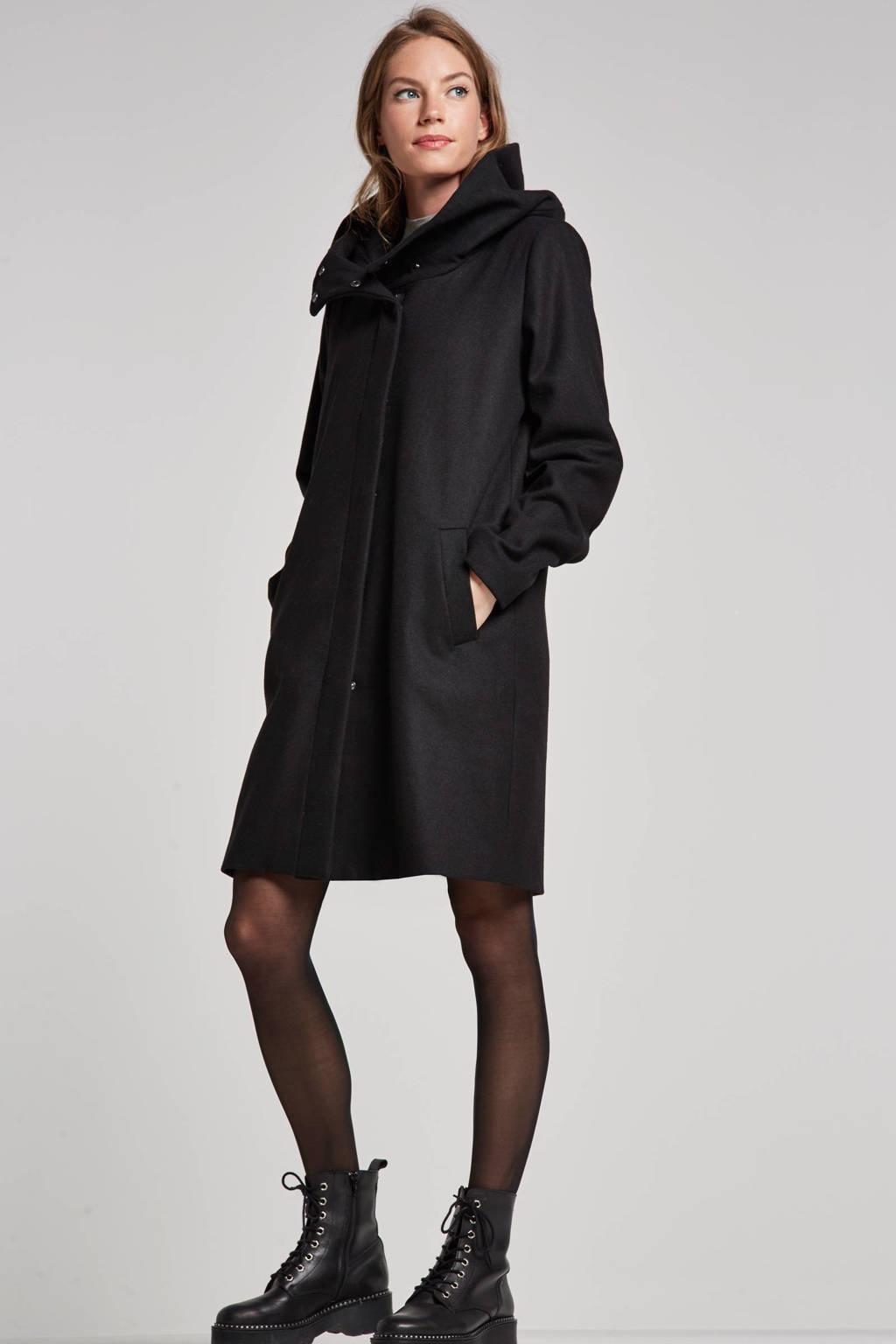 OBJECT jas met wol, Zwart
