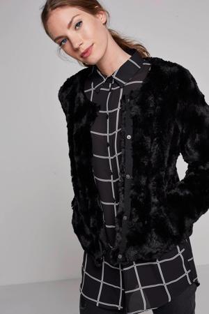 imitatiebont jas zwart