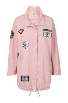 Regulier zomerjas met patches roze