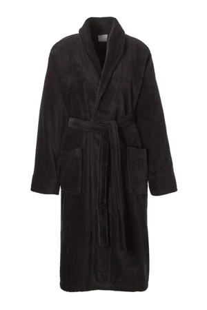 badstof badjas Pure zwart