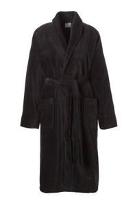 Seahorse badstof badjas zwart, Zwart