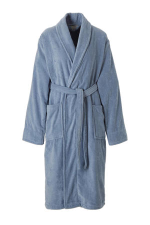 badstof badjas blauw