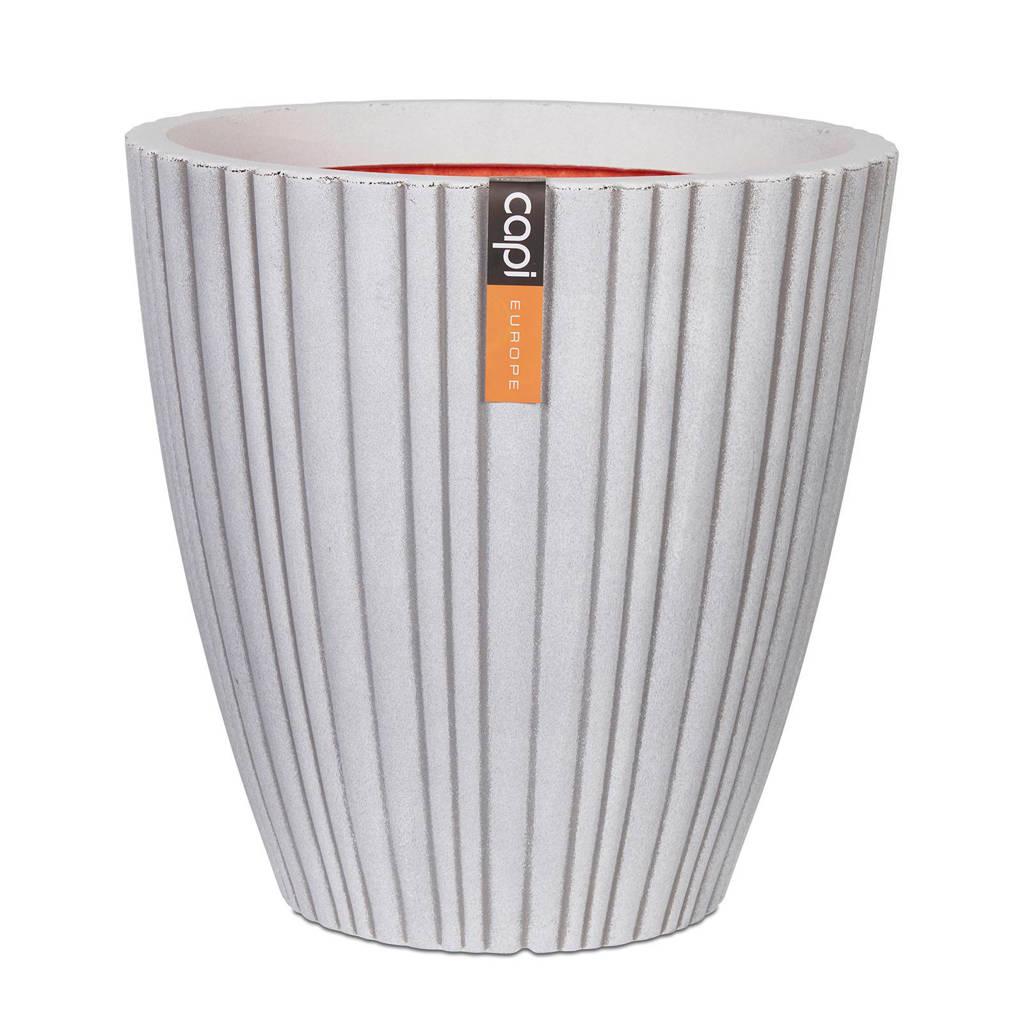 Capi bloemvaas Urban Tube (d40xh40 cm, taps), Wit