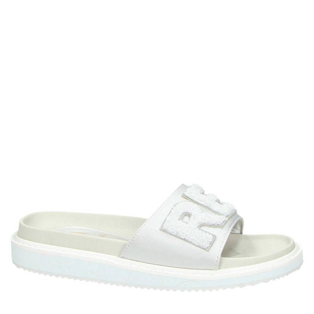 REPLAY slippers met glitters, Zilver