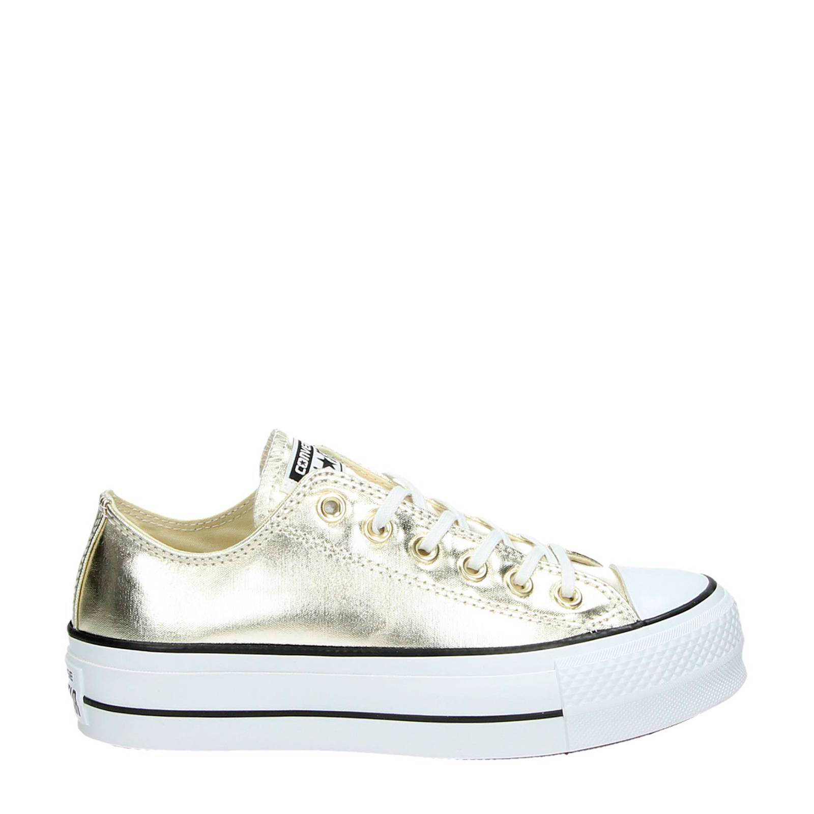 058be9ab3e7 Converse Chuck Taylor All Star Lift metallic gympen | wehkamp