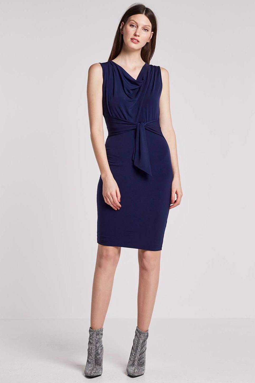 whkmp's own jurk met waterval hals, Donkerblauw