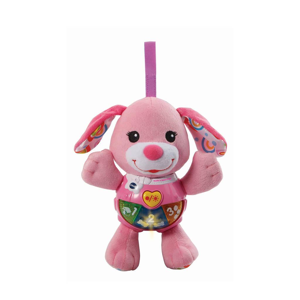 VTech  Baby knuffel & speel puppy roze, Roze