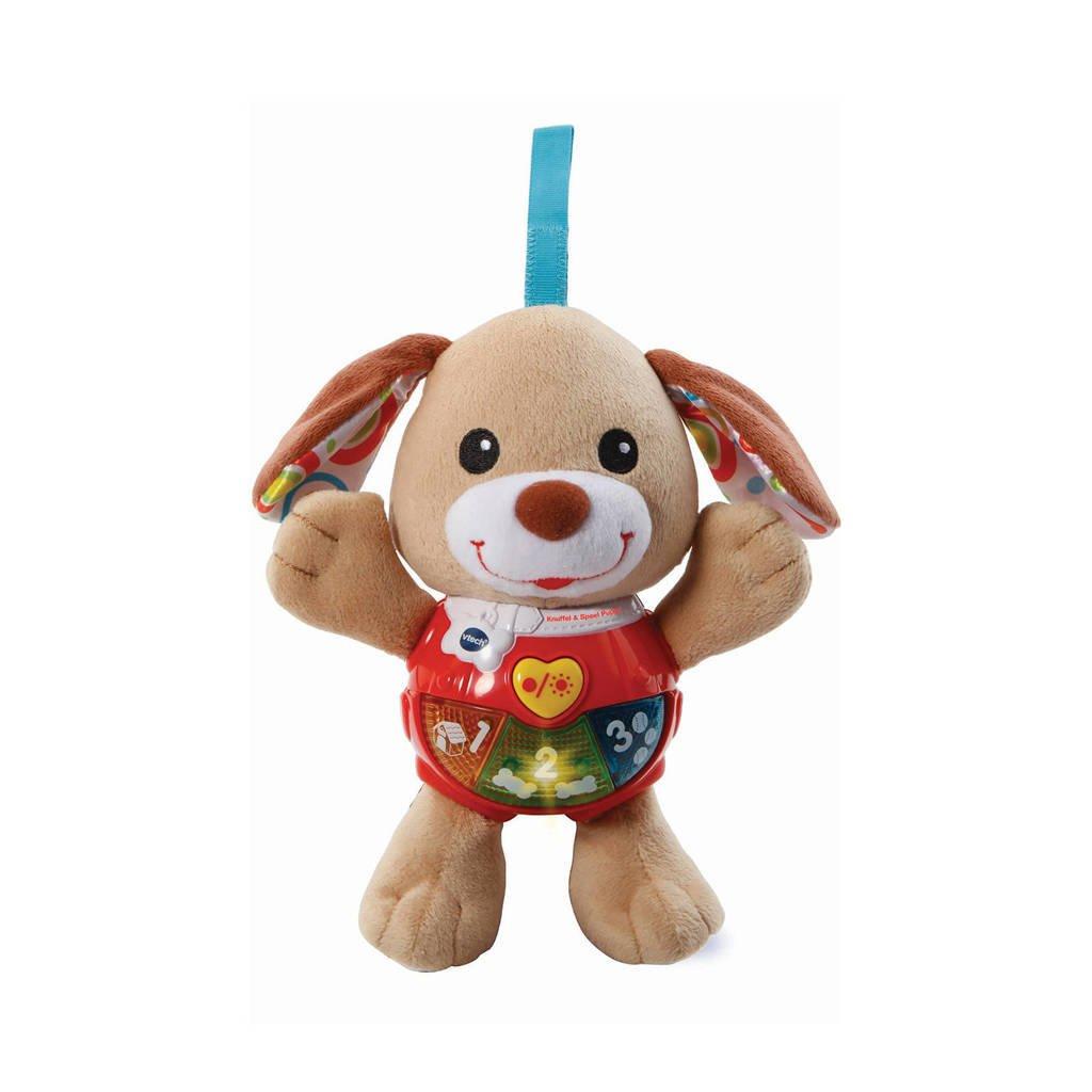VTech  Baby knuffel & speel puppy bruin, Bruin