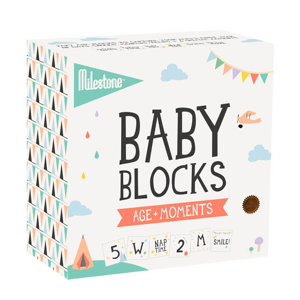 Milestone baby blokken, Wit