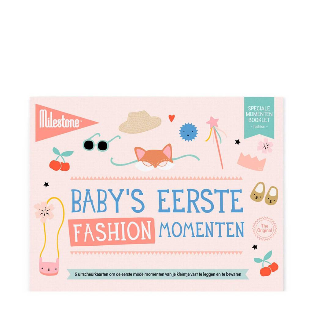 Milestone Special Moments fotokaarten - Baby's eerste fashion momenten, Roze