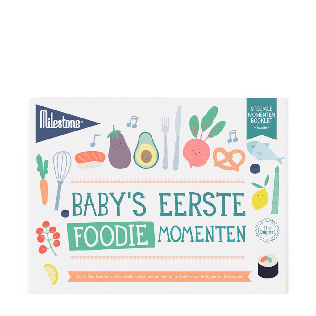 Milestone Special Moments fotokaarten - Baby's eerste foodie momenten, Wit