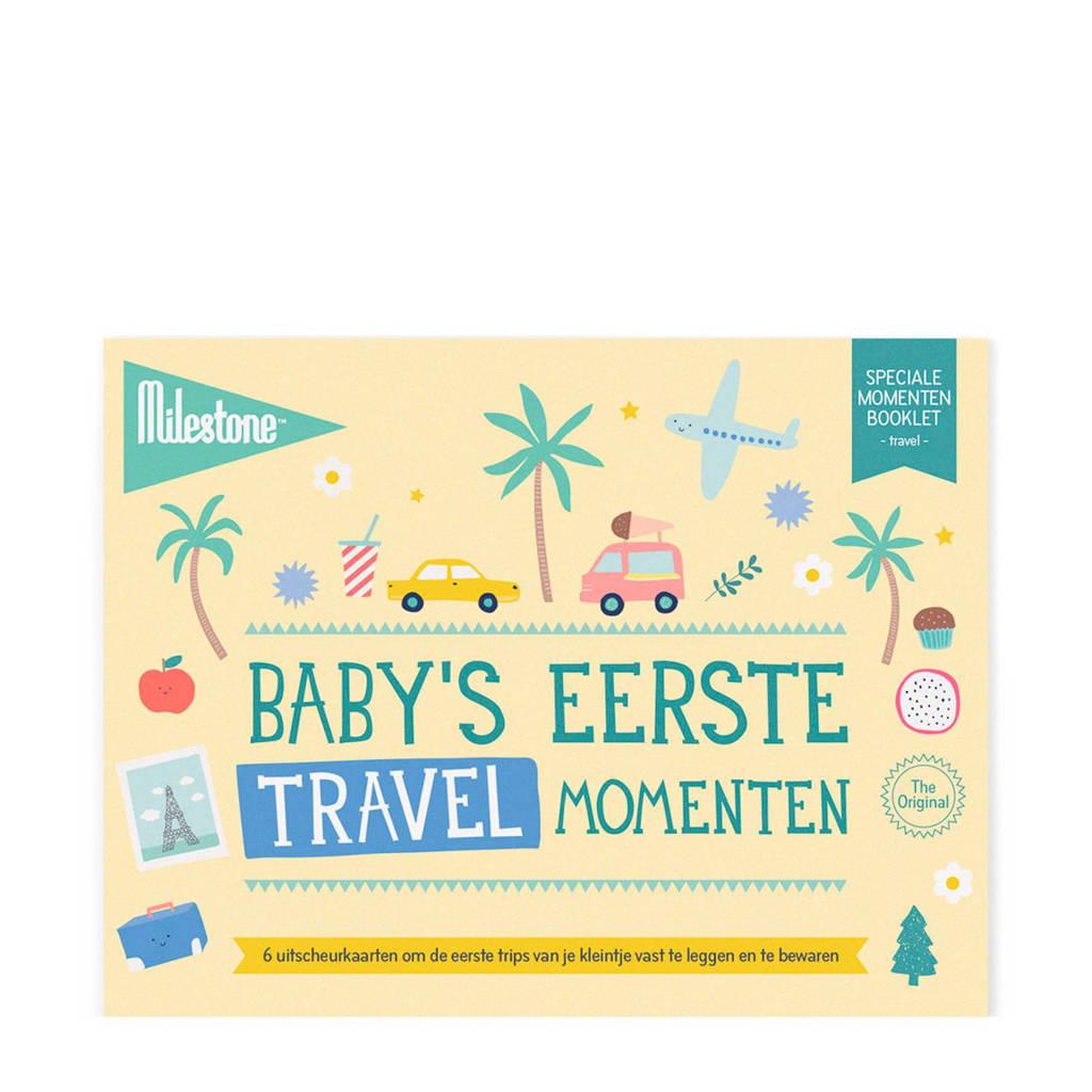 Milestone Special Moments fotokaarten - Baby's eerste travel momenten, Geel