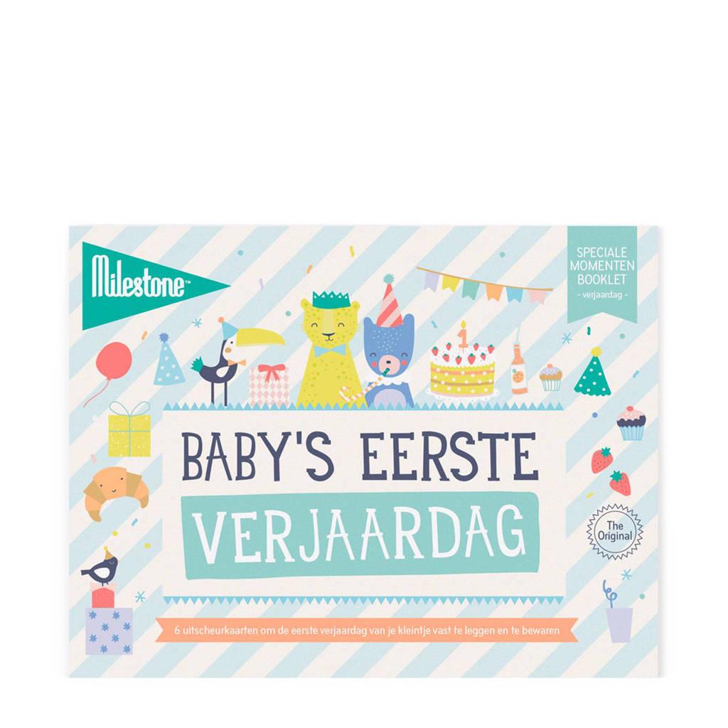 Milestone Special Moments fotokaarten - Baby's eerste verjaardag, Groen