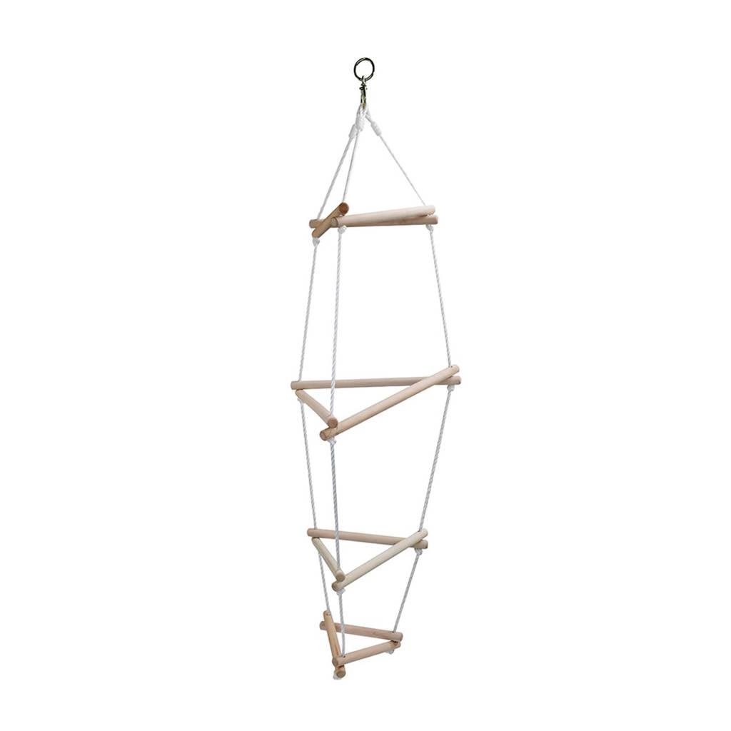 Hudora driehoeks touwladder, Houtkleurig