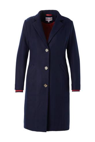 lange jas donkerblauw
