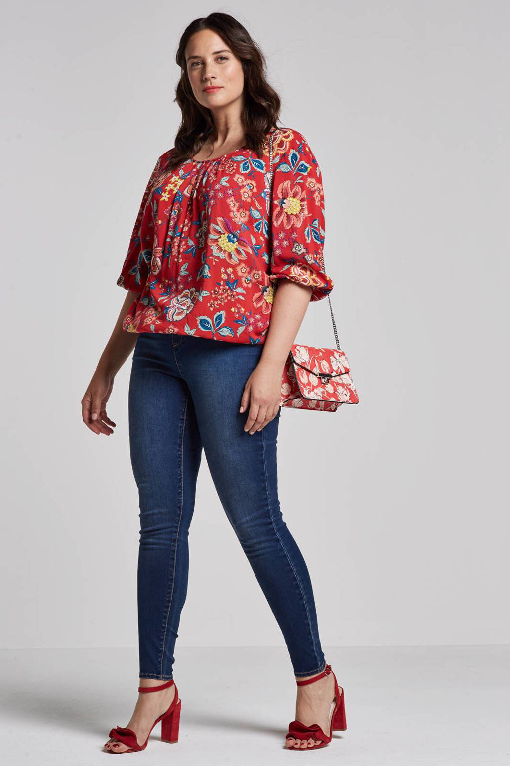 whkmp's great looks skinny fit jegging, Donkerblauw