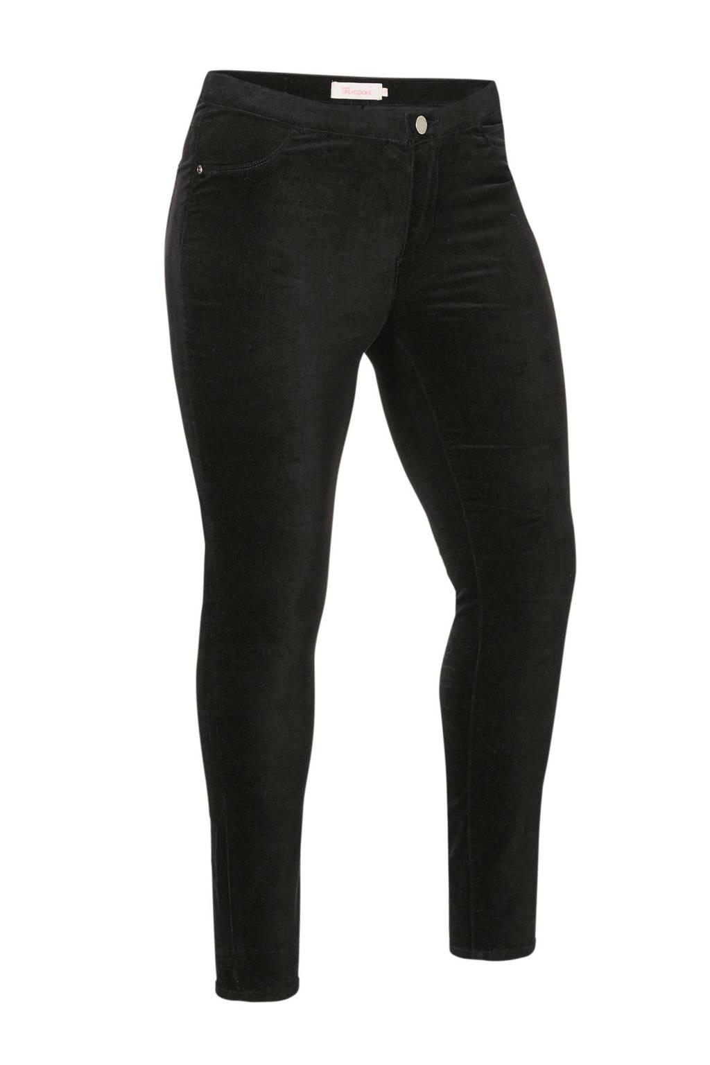 whkmp's great looks velvet jeans, Zwart