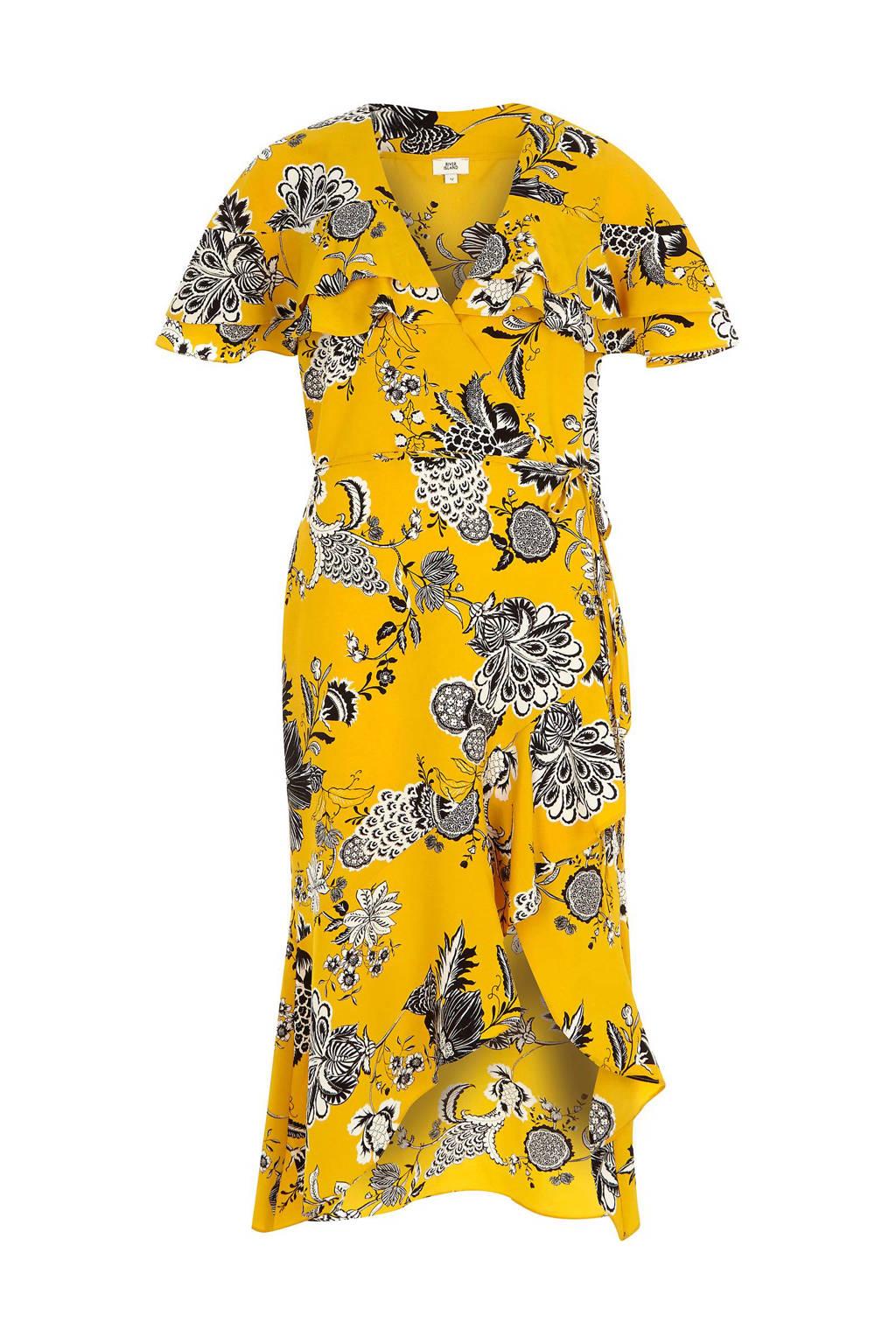 d4b070c322b16c River Island overslag jurk met bloemenprint