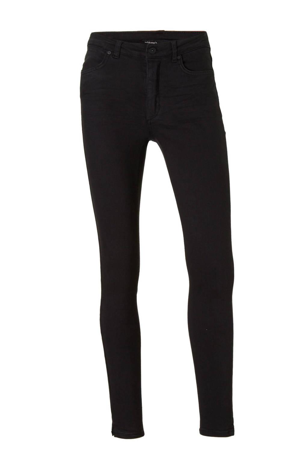 whkmp's own skinny high waist non denim, Zwart