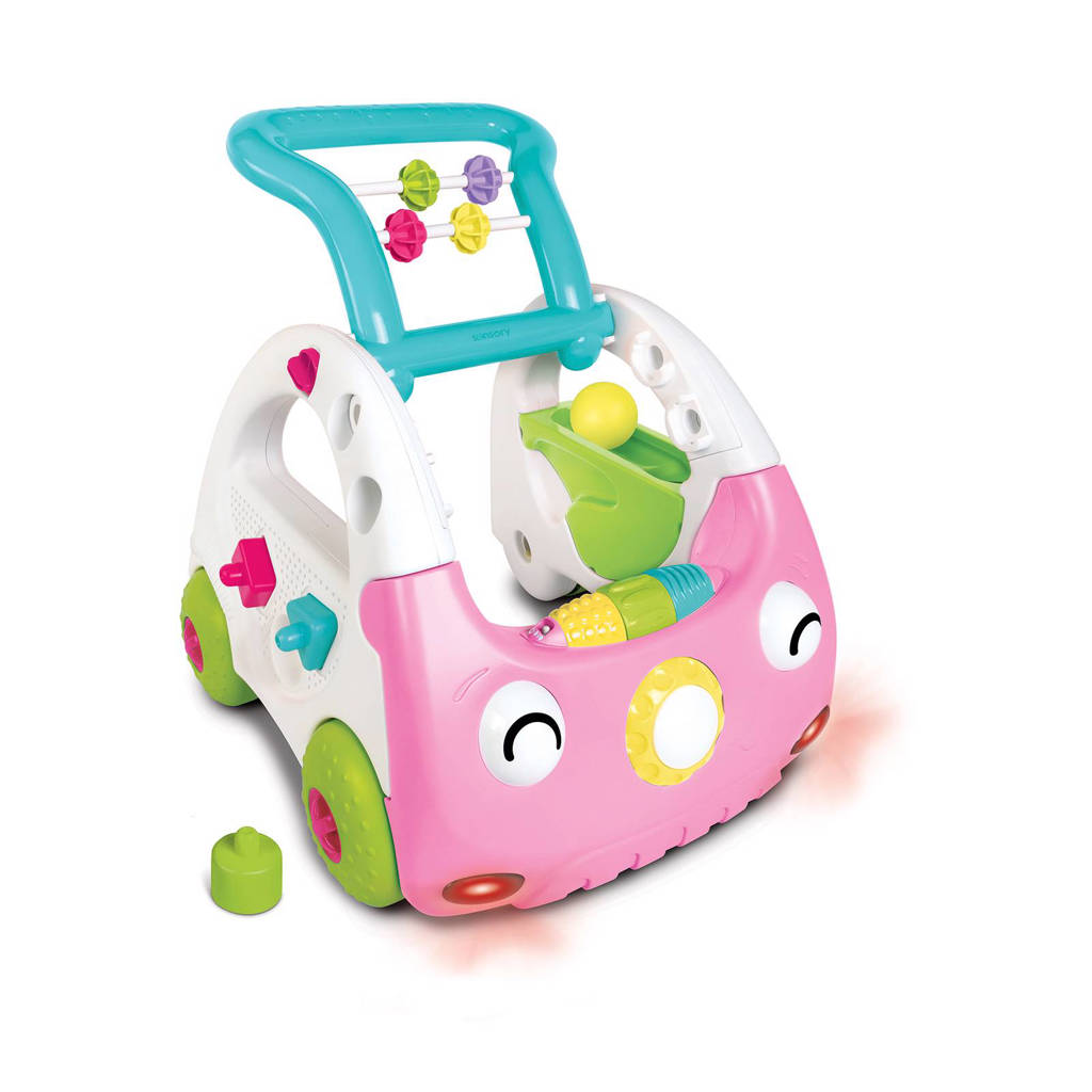 Infantino  baby looptrainer roze